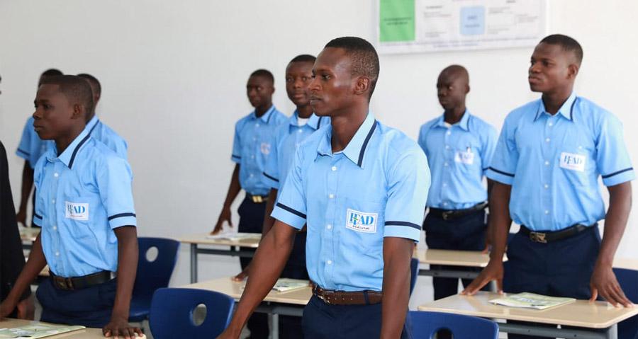 Les apprenants en salle de formation à l'IFAD Aquaculture Elavagnon