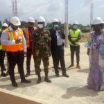 Madame Zouréhatou Tcha Kondo Ministre des Travaux Publics en visite a l IFAD Batiment