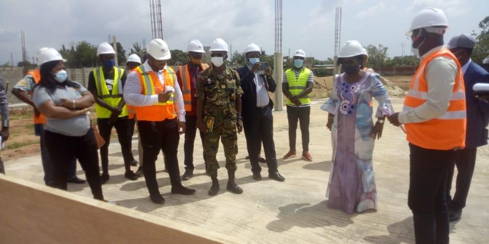 IFAD-Bâtiment d'Adidogomé : Visite de Madame Zouréhatou Tcha-Kondo, Ministre des Travaux Publics